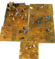 Sale 8330T - Lot 97 - Five Battlefield Boards of Lead Soldiers; handpainted