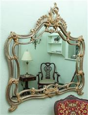 Sale 8881H - Lot 87 - A Roccoco style mirror. Height 118 cm x Width 120cm