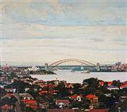 Sale 8992 - Lot 515 - John Earle (1955- ) - Sydney Harbour 90 x 103 cm (frame: 107 x 119 x 4 cm)