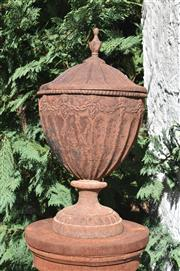 Sale 8972H - Lot 70 - A good cast iron urn in the manner of William Kent 54cm Height