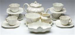 Sale 9164 - Lot 168 - A early Shelley part tea service together with a Coalport butter dish - some wear and stains