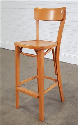 Sale 9218 - Lot 1090A - Timber high chair, marked Thonet (h:108 x w36 x d46cm)