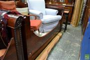 Sale 8460 - Lot 1024 - Pair of Mid 19th Century French Flame Mahogany Single Sleigh Beds, with applied barley twist to one side, cabinet maker or inventory...