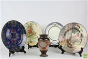 Sale 8563 - Lot 282 - Royal Doulton Cabinet Plates And Vase