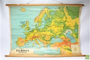 Sale 8644 - Lot 41 - Chas H Scally Vintage School Map of Northern Europe