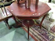 Sale 8657 - Lot 1064 - Timber Octagonal Top Occasional Table