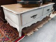 Sale 8697 - Lot 1081 - French Style Coffee Table with Two Drawers