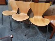 Sale 8872 - Lot 1025 - Set of 3 Series 7 Chairs by Fritz Hansen