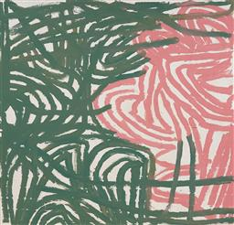 Sale 9148A - Lot 5045 - EMILY KAME KNGWARREYE (c1909 - 1996) - Untitled (My Country) 142 x 138 cm (stretched and ready to hang)