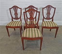 Sale 9174 - Lot 1103 - Set of 4 lyre back dining chairs (h:100 x w:50 x d:45cm)