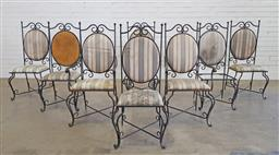Sale 9183 - Lot 1011 - Set of eight wrought iron chairs (h110 x w53 x d53cm)