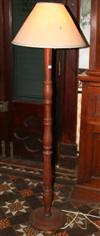 Sale 7670A - Lot 183 - Pair of timber standard lamps and shades