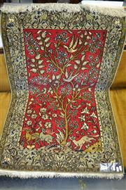 Sale 8093 - Lot 1782 - Silk & Wool Handmade Iranian Wall Hanging (120 x 76cm)