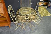 Sale 8117 - Lot 902 - Metal Outdoor Table with 2 Chairs