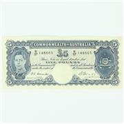 Sale 8264 - Lot 14 - Commonwealth of Australia Five Pound Note Signed Coombs & Watt