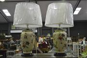 Sale 8361 - Lot 1065 - Pair of Belgian lamps (3470)