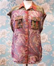 Sale 8474A - Lot 3 - A Zimmerman 100% silk blouse in paisley, in excellent condition, size 1