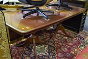 Sale 8532 - Lot 1358 - Georgian Style Dining Table with Butterfly Leaves