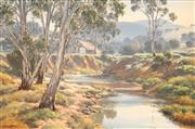 Sale 8558 - Lot 509 - Melvin Duffy (1930 - ) - Morning Haze, Wallis Creek 1980 59.5 x 90cm