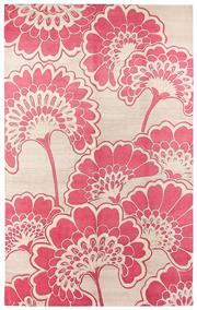 Sale 8563A - Lot 15 - The Florence Broadhurst Collection Design; Japanese Floral Made in; Nepal Colour; Soft Red/ Natural  Made from; Tibetan Wool...