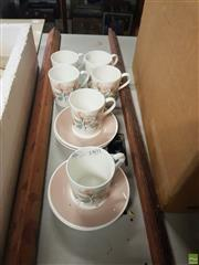 Sale 8563T - Lot 2401 - Set of 6 Ridgway Royal Adderley Cups & Saucers