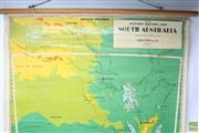 Sale 8644 - Lot 61 - Chas H Scally Vintage School Map of South Australia