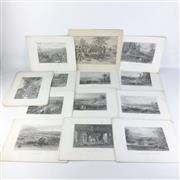Sale 8793 - Lot 61 - 1870s Skinner Prout, Chevalier and Armytage engravings, including Gold and Aboriginal subjects, images each 12 x 23cm