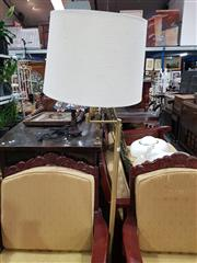 Sale 8744 - Lot 1010 - Brass Standard Lamp with Shade