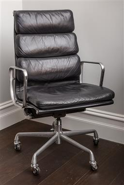 Sale 9160H - Lot 47 - A vintage Eames for Herman Miller Aeron padded chair, Height of back 100cm x Width 60cm
