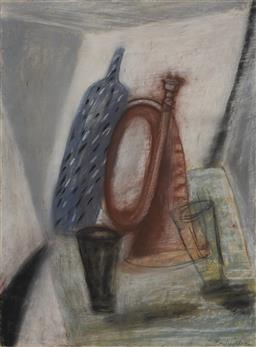 Sale 9170A - Lot 5090 - BARBIE KJAR (1957 - ) Still Life, 1994 pastel 75 x 56.5 cm (frame: 105 x 87 x 5 cm) signed and dated lower right