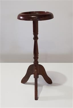 Sale 9188 - Lot 1456 - Timber smokers stand (h60 x d30cm)