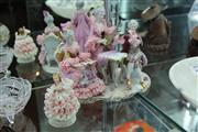 Sale 8081 - Lot 45 - Crinoline Group of Two Figures