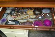 Sale 8117 - Lot 964 - Large Tray Polished Agate Slices