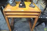 Sale 8287 - Lot 1072 - G-Plan Teak Nest of Tables