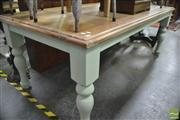 Sale 8338 - Lot 1188 - Shabby Chic Table with Oak Top