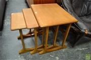 Sale 8511 - Lot 1037 - Nathan Teak Nest of Tables