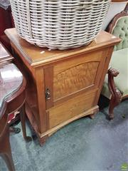 Sale 8566 - Lot 1258 - 1920s Maple Bedside Cabinet & CD Stand