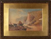 Sale 8818A - Lot 13 - J. S. Perry  Seaside Boating  watercolour  32 x 38cm  signed and dated LR 1883