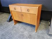 Sale 9039 - Lot 1082 - Timber Cabinet With Two Drawers Above And Drop-Down Door (H58 x W69 x D35cm)