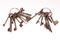 Sale 9110 - Lot 92 - A large collection Of old keys