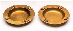 Sale 9136 - Lot 221 - A pair of solid brass ashtrays (Dia:17cm)