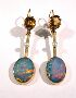 Sale 3564 - Lot 119 - A PAIR OF 9CT GOLD CITRINE, OPAL DOUBLET AND PEARL DROP EARRINGS;