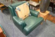 Sale 8115 - Lot 1436 - Green Leather Armchair
