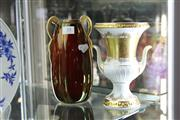 Sale 8189 - Lot 35 - Carlton Ware Royal Rouge Two Handled Vase with a Bavarian Vase