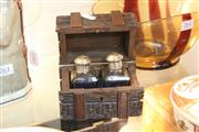 Sale 8314 - Lot 43 - Early Black Forest Timber Perfume Trunk