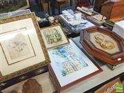 Sale 8413T - Lot 2078 - Framed Prints (3) & a Framed Religious Wall Hanging incl David Copperfields Magnificent Order at the Public House