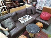 Sale 8424 - Lot 1063 - Leather 3 Seater Lounge