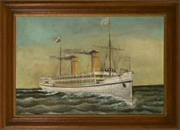 Sale 9094 - Lot 2010 - Artist Unknown (C19th) Royal Yacht Orphir oil on canvas 46 x 71cm, unsigned -