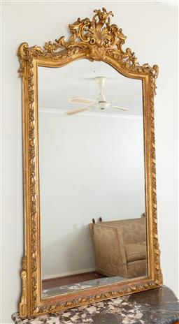 Sale 9135H - Lot 90 - A good quality French giltwood mirror. 1.62M Height, 87Cm Width