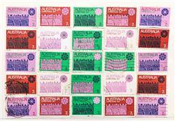 Sale 9156 - Lot 90 - A group of Australian 1971 Christmas stamps, hinged and cancelled,